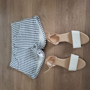 Sandals and the short pants are from old navy